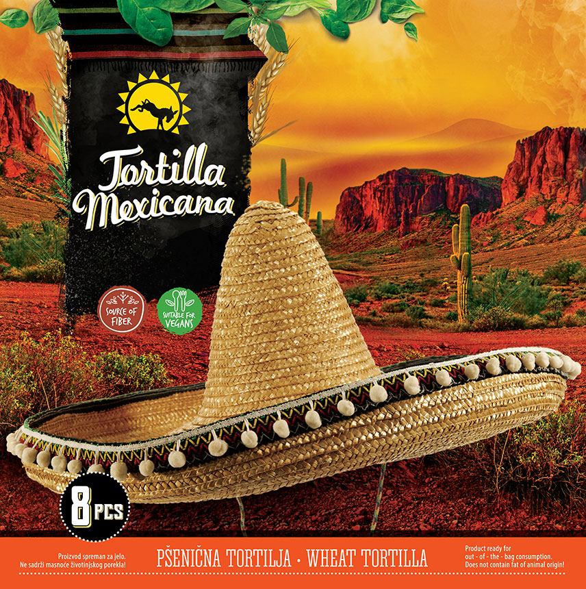 Packaging design for Mexican food - Tortilla Mexicana