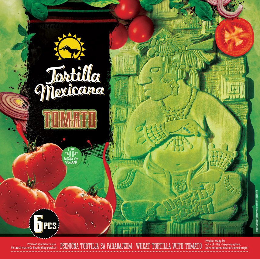 Packaging design for Mexican food - Tomato